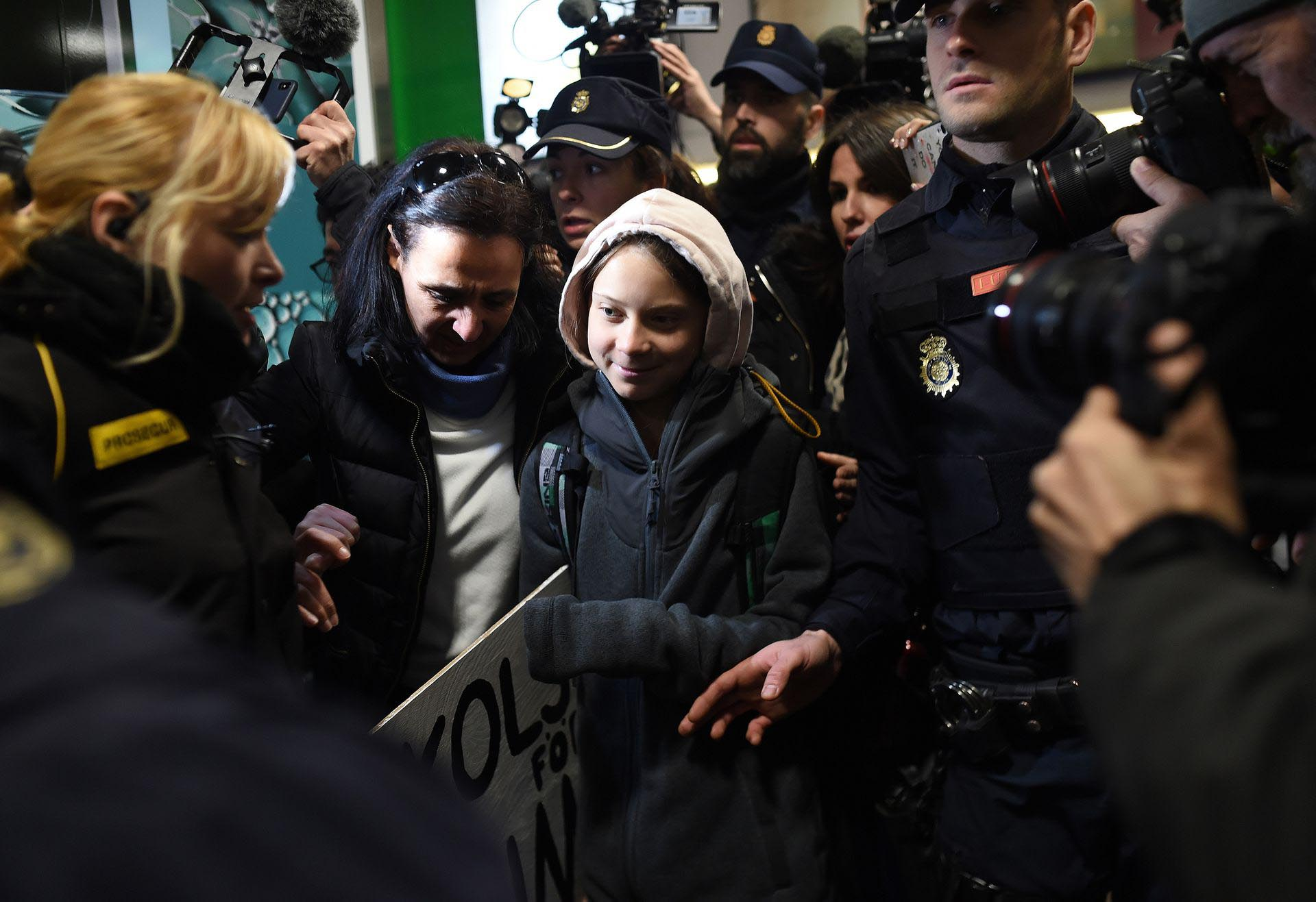 Greta Thunberg Arrives In Madrid