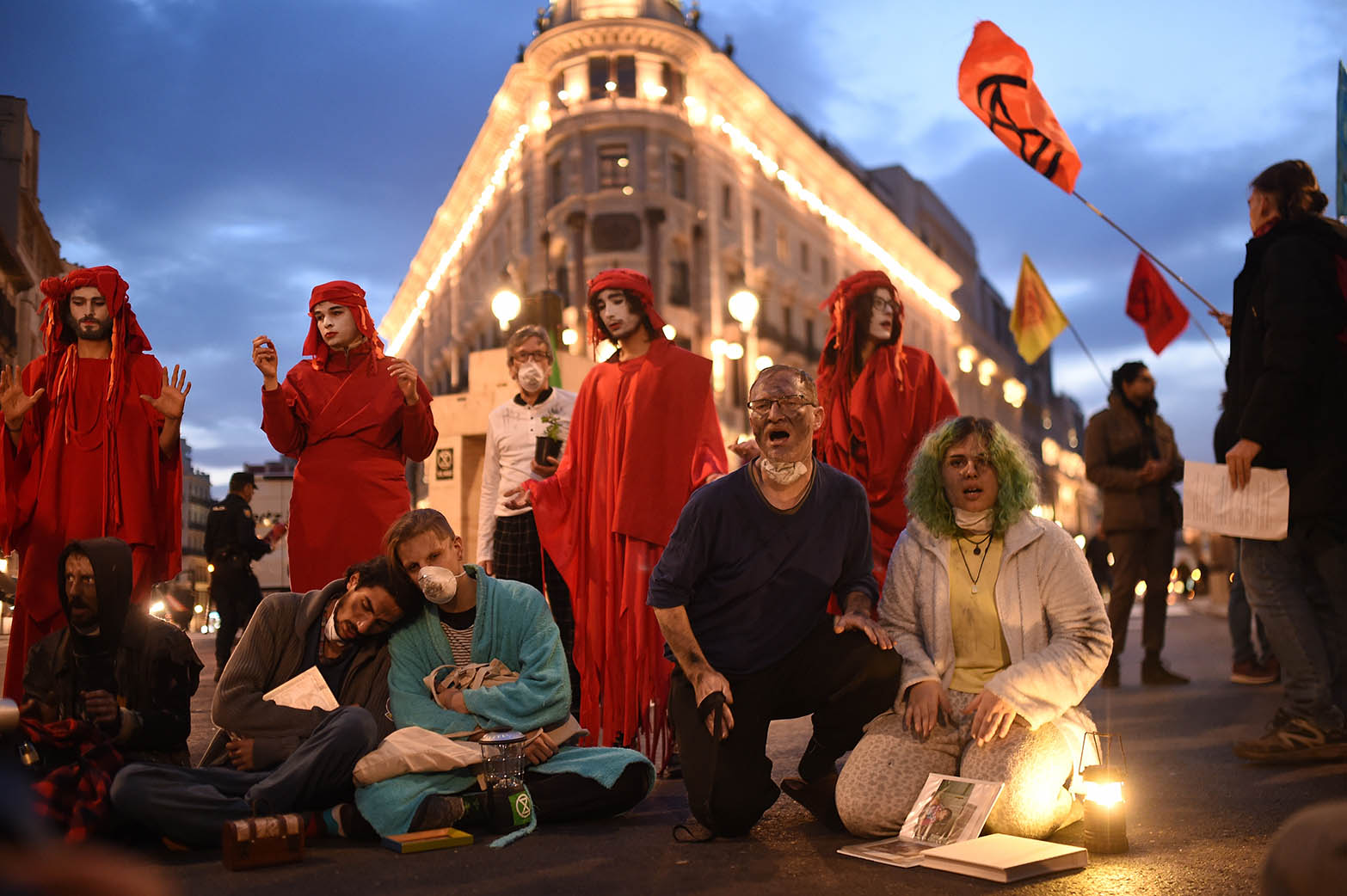 Extinction Rebellion Action In Madrid