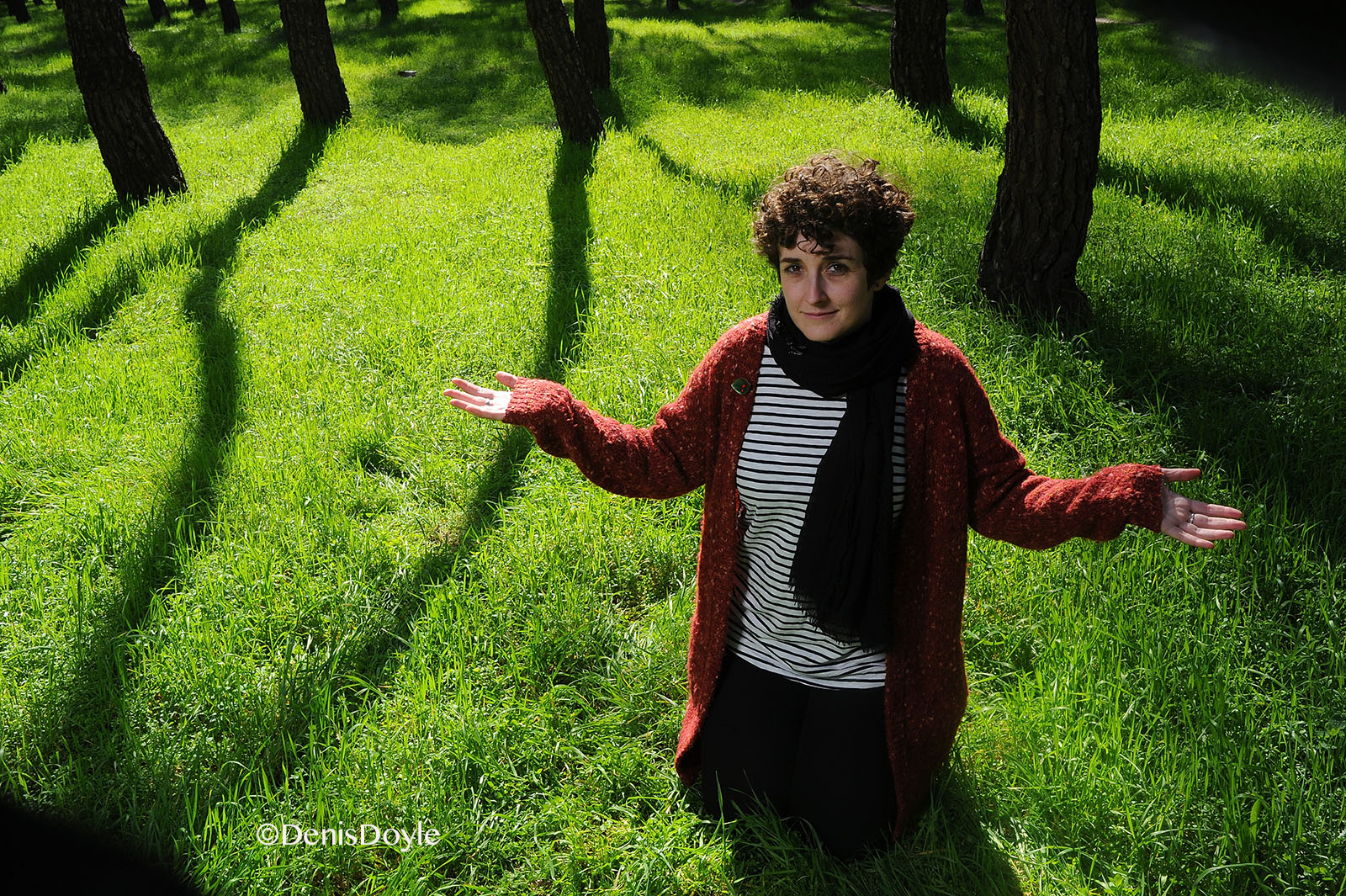 Poet Silvia Nieva in the Woods