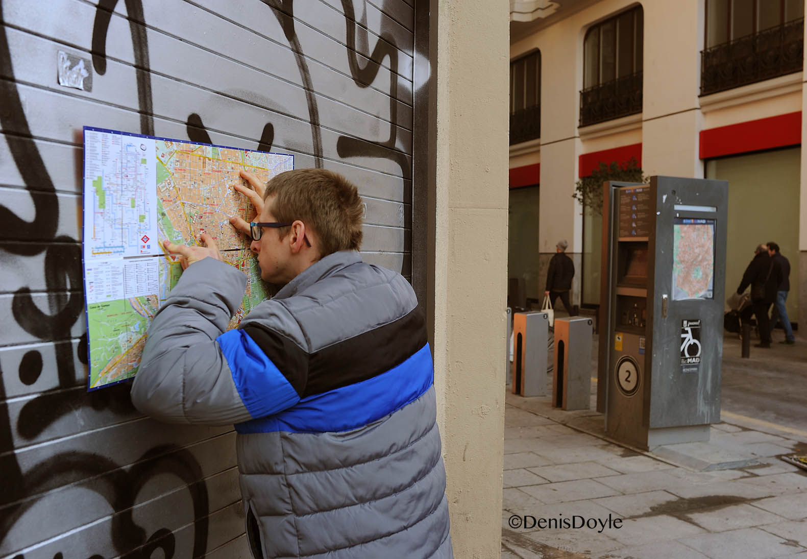 Map reading in Gran Via