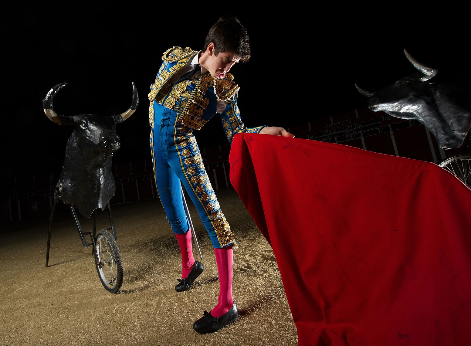 Bullfighting student Carlos Ochoa
