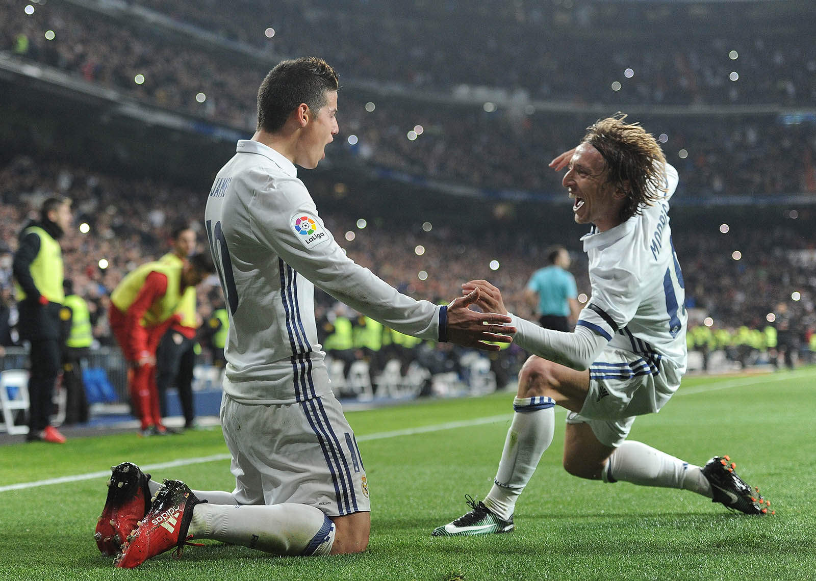 James Rodriguez and Luka Modric