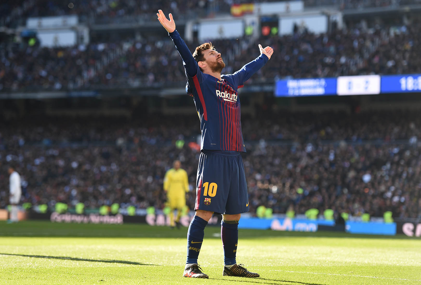 Messi Celebrates again @Bernabeu in 2018