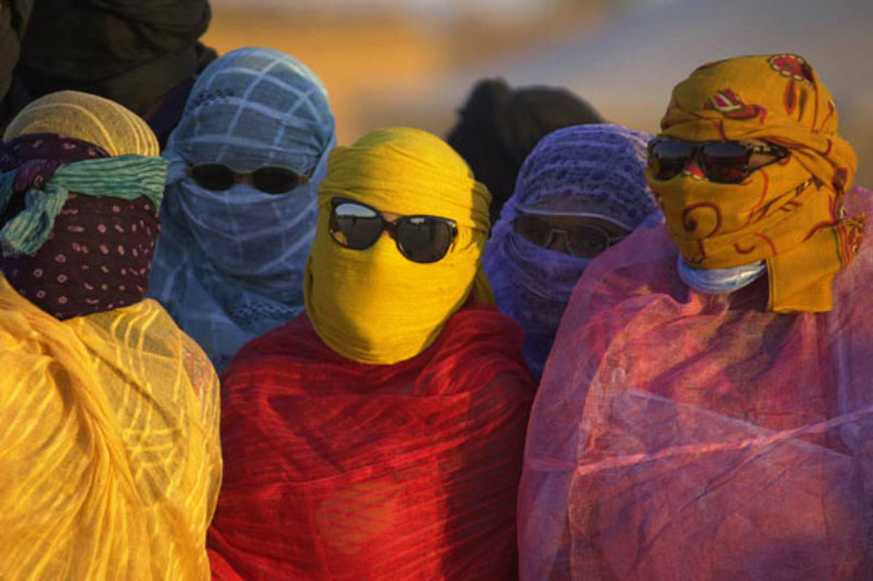 Colorful clothes at  El  Ayoun refugee camp in Algerian desert